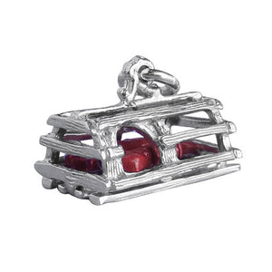 Lobster trap charm sterling silver 925 or gold pendant