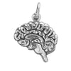 Human Brain Charm Sterling Silver Anatomical Pendant | Silver Star Charms