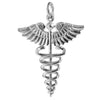 Caduceus Medical Symbol Charm