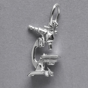 Sterling Silver Microscope Charm