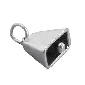 Cow Bell Charm 925 Sterling Silver Pendant