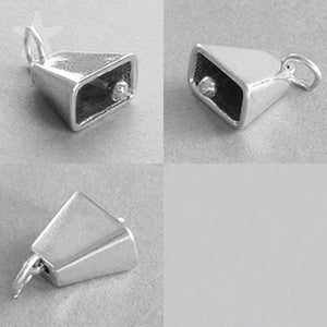 Cowbell Charm 925 Sterling Silver Pendant