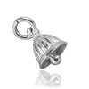 Tiny Bell Charm in Sterling Silver or Gold