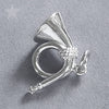 Hunting Horn Charm in Sterling Silver or Gold