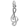 Treble Clef Charm in Sterling Silver or Gold