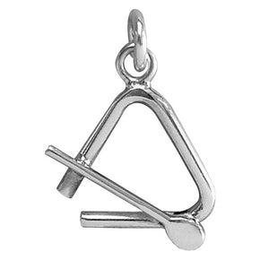 Triangle Charm Sterling Silver Percussion Instrument Charm | Silver Star Charms