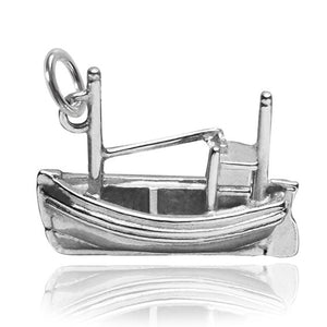 Sterling Silver Fishing Vessel Boat Charm