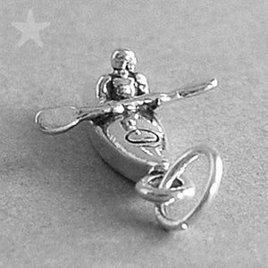 Sterling Silver Kayaker in Kayak Charm