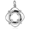 Life Ring Charm in Sterling Silver or Gold | Silver Star Charms