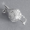 Crochet Hook Yarn Charm Pendant in Sterling Silver or Gold