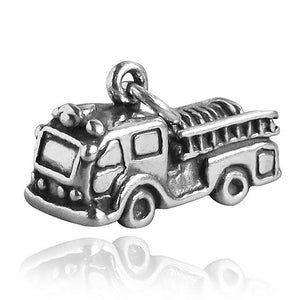 Sterling Silver Fire Engine Truck Charm
