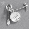 Sterling Silver Gold Pan Pick and Shovel Charm Pendant