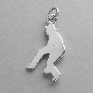 Lawn Bowler Charm in Sterling Silver or Gold | Charmarama