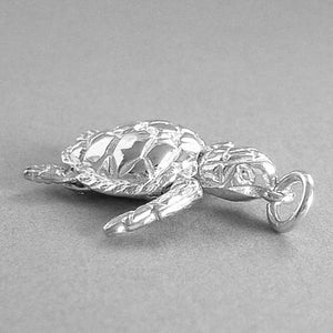 Moving Turtle Pendant Sterling Silver or Gold