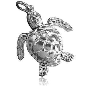 Moving Turtle Charm Sterling Silver or Gold