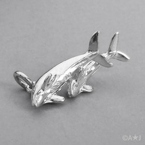 Two Dolphins Charm