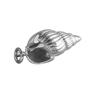 Tulip Shell Charm Sterling Silver or Gold Sea Snail Pendant | Silver Star Charms