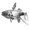 Trout Fish Charm Sterling Silver or Gold