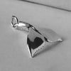 Whale Tail Charm Pendant in Sterling Silver or Gold