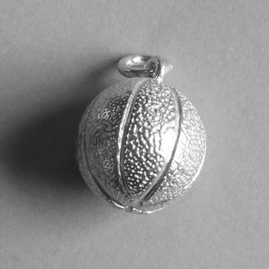 Basketball Pendant in Sterling Silver or Gold