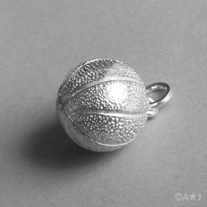 Basketball Charm in Sterling Silver or Gold