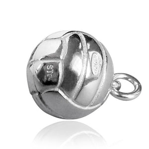 Netball Charm Pendant in Sterling Silver or Gold | Silver Star Charms