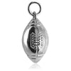 Gridiron Ball Charm in Sterling Silver or Gold
