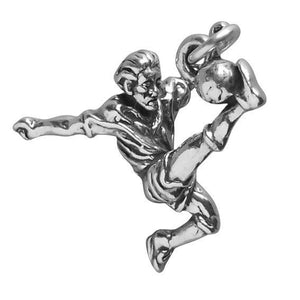 Football Player Charm 925 Sterling Silver Pendant