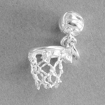 Moving Netball and Net Pendant