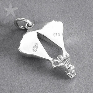 Parachute Charm in Sterling Silver or Gold