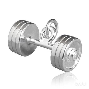 Weightlifting and Bodybuilding Barbell Weights Charm or Pendant | Charmarama