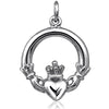 Irish Claddagh Symbol Charm in Sterling Silver or Gold | Silver Star Charms