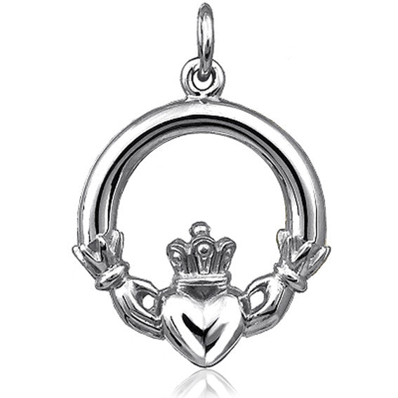 Claddagh Charm Irish Symbol Silver Star Charms