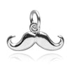 Sterling Silver Moustache Charm | Silver Star Charms
