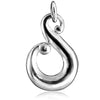 Koru Maori NZ Symbol Charm in Sterling Silver or Gold | Silver Star Charms