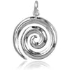Koru Swirl Maori NZ Symbol Charm in Sterling Silver or Gold | Silver Star Charms
