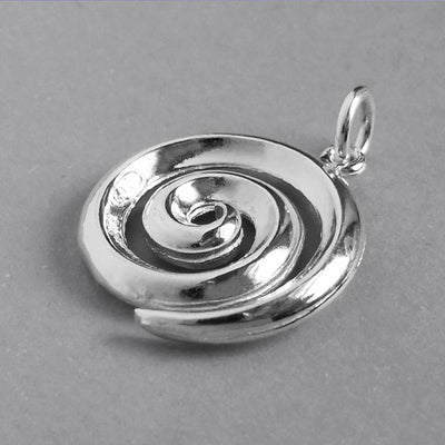 Koru Swirl Maori NZ Symbol Pendant in Sterling Silver or Gold