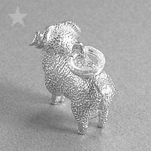 Merino Ram Aries Charm Sterling Silver or Gold
