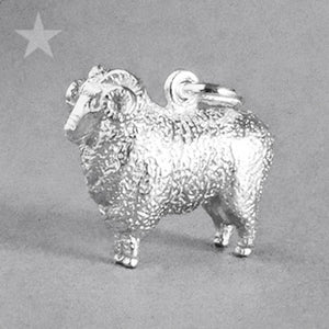 Aries the Ram Merino Charm Pendant