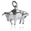 Sterling Silver Taurus Bull Charm Pendant | Silver Star Charms