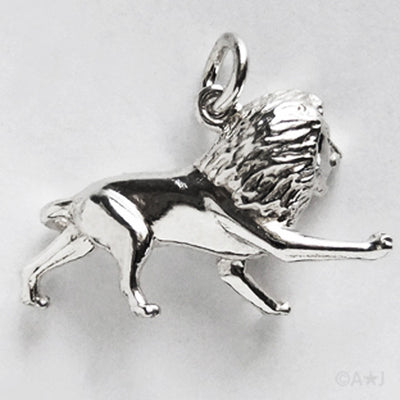 Leo Lion Zodiac Sterling Silver or Gold Charm Pendant