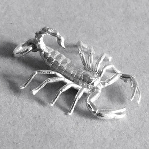 Scorpion Pendant Scorpio Zodiac in Sterling Silver or Gold