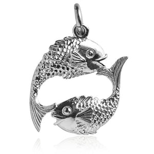Pisces the Fish Charm in Sterling Silver or Gold