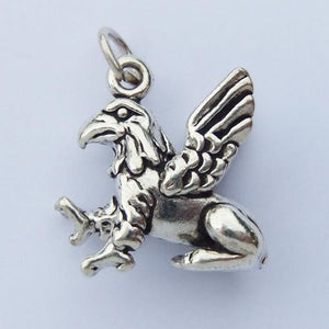 Sterling Silver Griffon Charm Pendant