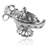 Genie Lamp Charm in Sterling Silver or Gold