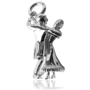 Ballroom Dance Charm in Sterling Silver or Gold