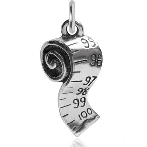 Sterling Silver Tape Measure Charm