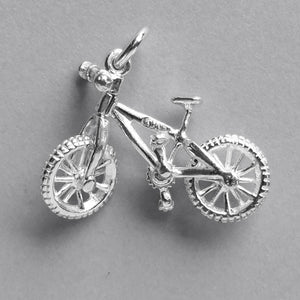Moving Street Bike Charm in Sterling Silver or Gold