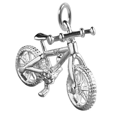 Mountain Bike Charm in Sterling Silver or Gold