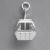 Ski Cable Car Charm Sterling Silver or Gold Skiing Pendant | Silver Star Charms